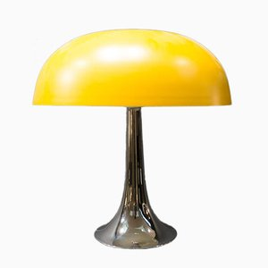 Mid-Century Italian Yellow Mushroom Table Lamp
