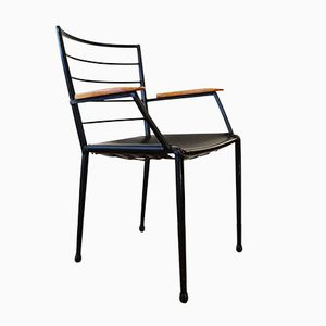 Metal Leather Armchair from Ladderax, 1960s