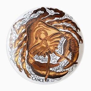 Vintage Cancer Zodiac Porcelain Plate by Piero Fornasetti for Corisia, 1974