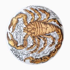 Scorpio Zodiac Porcelain Plate by Piero Fornasetti for Corisia, 1967