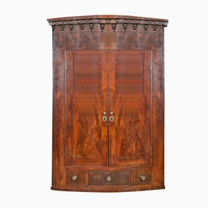 Antique Mahogany Wall Corner Cabinet