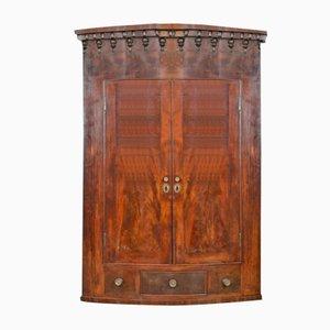Antique Mahogany Wall Corner Cabinet