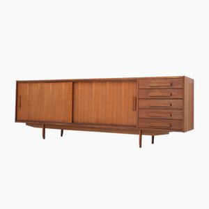 Teak Sideboard with Five Drawers, 1950s