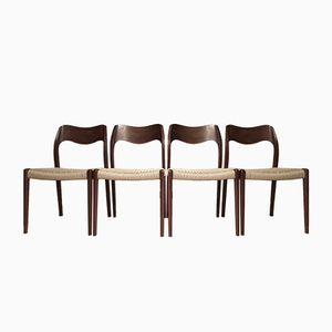 Wooden Dining Chairs from Neils Møller, Set of 4