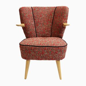 Vintage Armchair with Jacquard Upholstery, 1960