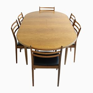 Vintage Dining Table & Six Chairs from G-Plan