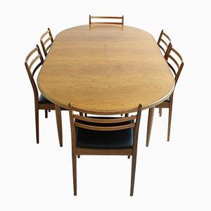 Vintage Esstisch & Sechs Stühle von G-Plan