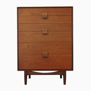 African Teak Chest of Drawers by Ib Kofod Larsen for G Plan, 1960s