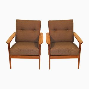 Scandinavian Armchairs, 1960s, Set of 2