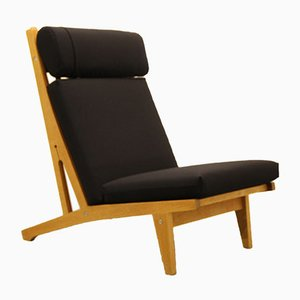 Vintage Danish Oak Lounge Chair by Hans J. Wegner for Getama, 1960s