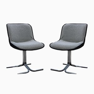 Grey Side Chairs, 1977, Set of 2