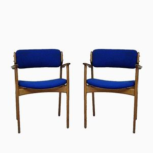 Scandinavian Armchairs by Erik Buck for Odense Maskinsnedkeri, 1960s, Set of 2