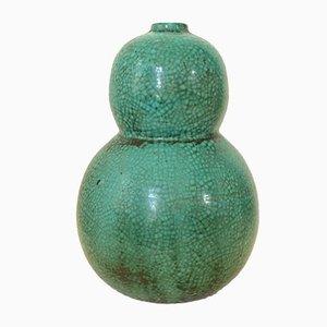 French Glazed Ceramic Vase by Primavera, 1930s