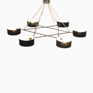 Vintage Large Sheet Metal Chandelier