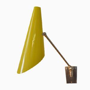 Mid-Century Yellow Wall Arm Lamp