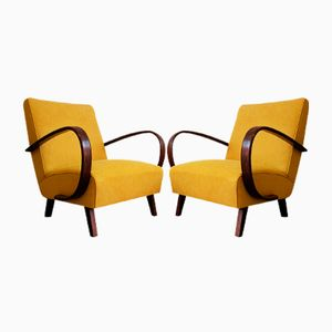 Armchairs by Jindrich Halabala for Thonet, 1930s, Set of 2