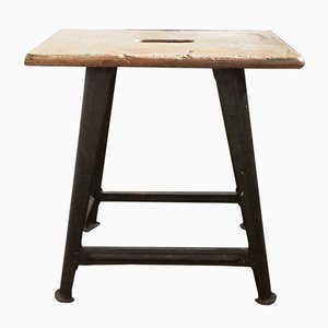 Vintage Industrial Stool with Grip from Rowac