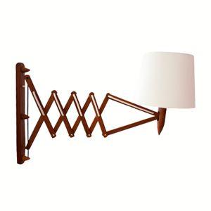 Vintage Scandinavian Teak Scissors Lamp by Kaare Klint, 1960s