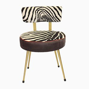 Vintage Zebra Fabric Chair from Pelfran, 1953
