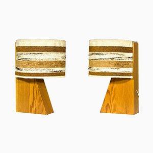 Architektonische Spanische Vintage Tischlampen von Joaquim Blesa, 1970er, 2er Set