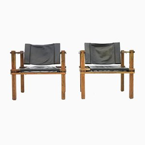 German Safari Lounge Chairs by Gerd Lange, 1960s, Set of 2