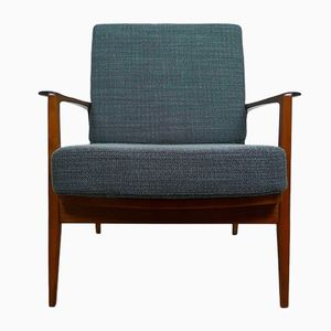 Mid-Century Petrol Gray Easy Chair from Walter Knoll, 1950s