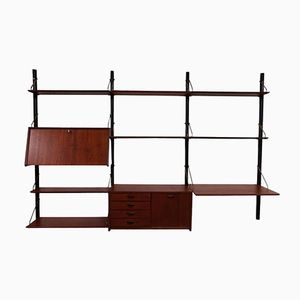 Mid-Century Teak Wall Unit by Louis Van Teeffelen for WéBé