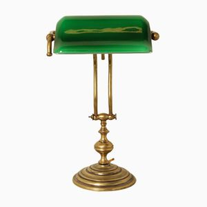 Antique Emeralite Bankers Lamp