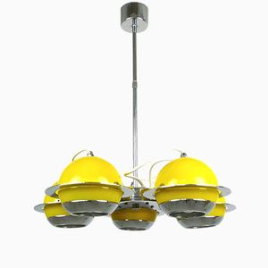 Adjustable Yellow German Ceiling Spotlight, 1970s