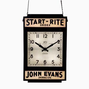 Vintage Double-Sided Illuminated Clock
