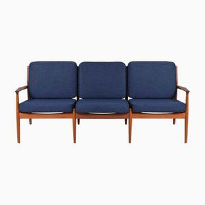 Mid-Century Teak Three-Seater Sofa by Grete Jalk for Glostrup, 1960s