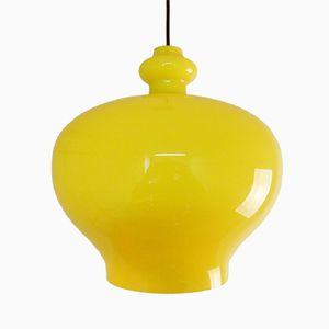 Large Vintage Yellow Glass Pendant by Hans Agne Jakobsson
