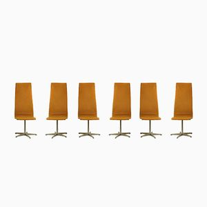 Esszimmerstühle von Arne Jacobsen für Fritz Hansen, 1965, 6er Set