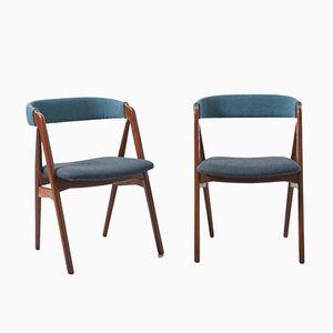 Mid-Century Esszimmerstühle von Kai Kristiansen, 1960er, 2er Set