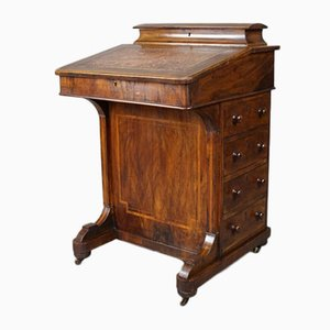 Antique Victorian Walnut Davenport Desk
