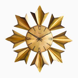 Vintage Brass Wall Clock from Atlanta