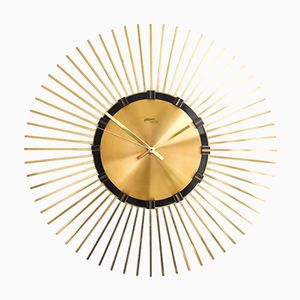 Mid-Century Brass Wall Clock from Atlanta