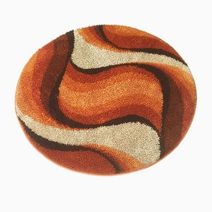 Pop Art Orange Rya Wave Rug from Desso, 1970s