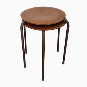 Vintage Industrie Dot Hocker von Arne Jacobsen, 2er Set
