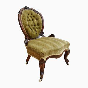 Victorian Antique Mahogany Nursing Chair