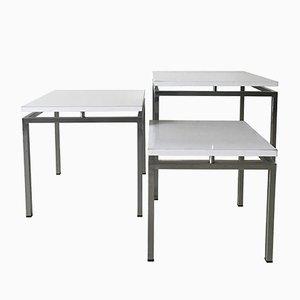 Mid-Century Modern White Nesting Tables, 1960s