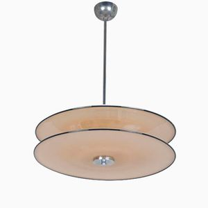 Rationalist Murano Glass Pendant Light, 1930s