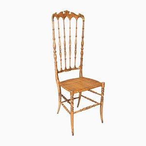 Stuhl mit Hoher Rückenlehne von Chiavari, 1940er