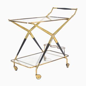 Italian Serving Bar Cart by Cesare Lacca, 1950s