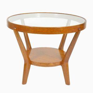 Vintage Round Coffee Table by Karel Koželka & Antonín Kropáček for České Umělecké Dílny