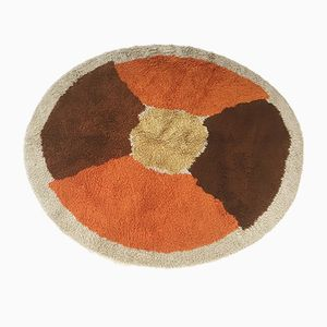 Pop Art Round Rya Rug from Desso, 1970s