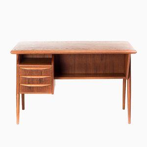 Vintage Danish Freestanding Desk by Gunnar Nielsen Tiebergaard