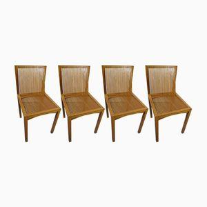 Modernistische Vintage Eichenholz & Eschenholz Esszimmerstühle von Ruud Jan Kokke, 4er Set