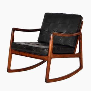 Mid-Century FD110 Rocking Chair by Ole Wanscher for France & Daverkosen
