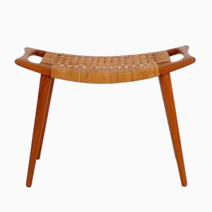 Vintage JH 539 Oak Stool by Hans J. Wegner for Johannes Hansen